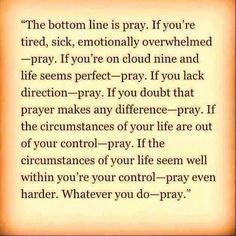 Prayer for all time
