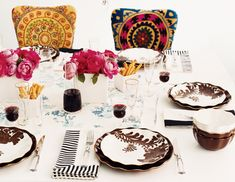 Nice table setting, but it's the chairs that I love!