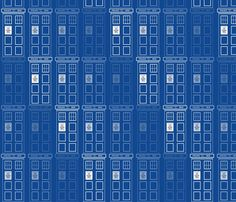 Disappearing Tardis fabric by ineedewe on Spoonflower - custom fabric