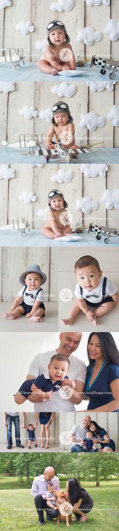 Baby aviator photo set by Heidi Hope Photography #planes #baby #aviator #theme #set