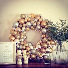 20  DIY Christmas Ornament Wreath Ideas