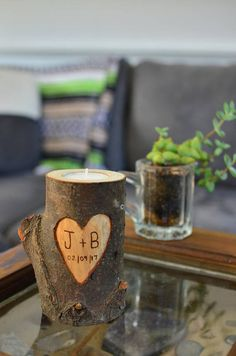 ETSY! Real pine candle for him / boyfriend / husband. Perfect gift for Valentine's Day.