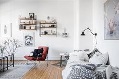 Style and Create — Beautiful decor & details in a one-roomer in Gothenburg via real estate agent Alvhem
