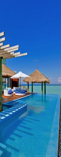 ☼ Life by the sea - blue ocean vacation Velassaru...Maldives