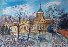 'Spring Morning, Castle Howard' by Emily Sutton Arundel Castle, Castle Howard, Museum Of Childhood, Rule Britannia, House Illustration, Bird Sculpture, Art Uk, Naive Art, Watercolour