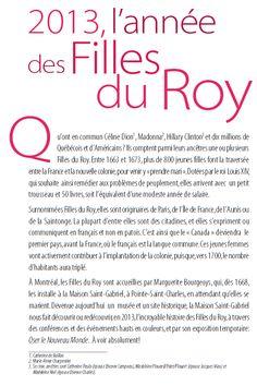2013, l'année des Filles du Roy! Roi Louis, Find A Husband, 2013, Ancestry, Family History, Saint, Genealogy, Gabriel, Home