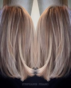 Cut & color – # - All For Hair Color Balayage Hair Day, New Hair, Ponytail Hairstyles, Cool Hairstyles, Hair Inspo, Hair Inspiration, Medium Hair Styles, Long Hair Styles, Corte Y Color