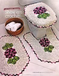 Resultado de imagen para tapetes de croche com graficos para banheiro