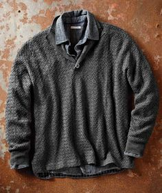 Perpetual Motion Sweater-Carbon 2 Cobalt