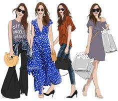 How much shopping did you do this weekend? Short Sleeve Dresses, Dresses With Sleeves, Illustration, Shopping, Image, Instagram, Fashion, Gowns With Sleeves, Moda