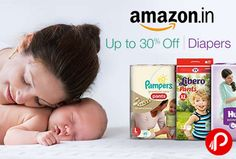 Amazon is offering Upto 30% off on Diapers including Huggies, MamyPoko Pants, Pampers, Libero.  http://www.paisebachaoindia.com/diapers-upto-30-off-amazon/