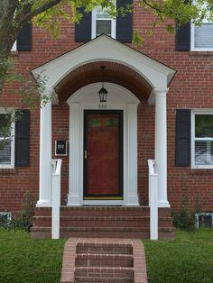 Classic. Front Porch Portico Design, Pictures, Remodel, Decor and Ideas