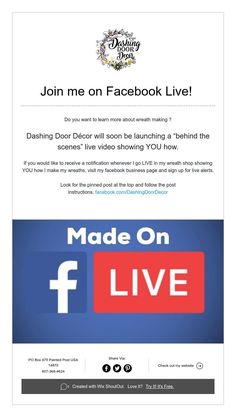 Join me on Facebook Live!