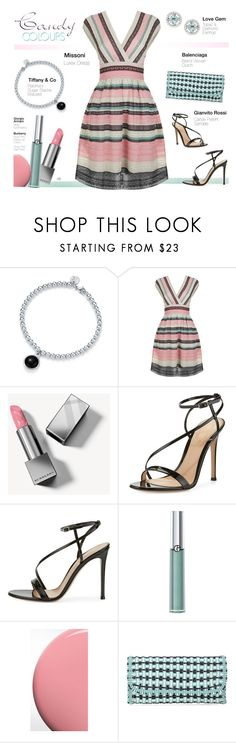 """Untitled #1298"" by louise-stuart ❤ liked on Polyvore featuring Designers Guild, M Missoni, Burberry, Gianvito Rossi, Giorgio Armani, Balenciaga and pleats"