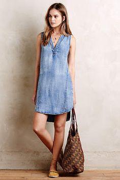 Denim dresses are a must have #trendalert