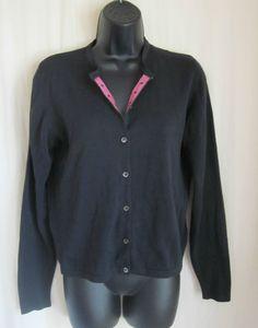 LILLY PULITZER Black Button Front Purple Palm Ribbon Cardigan XS XSmall #LillyPulitzer #Cardigan