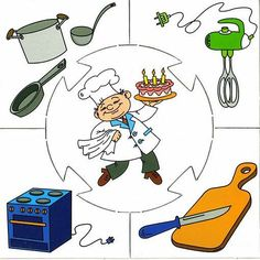 chef puzzle  |   Crafts and Worksheets for Preschool,Toddler and Kindergarten