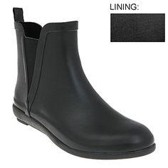 Amazon.com: Capelli New York Women's Matte Solid Jodhpur Body Rubber Rain Boot Black: Clothing