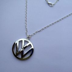VW Volkswagen Beastie Boys Bling Necklace Pendant by AutoArtMike Black Necklace, Men Necklace, Silver Necklaces, Pendant Necklace, Vw Volkswagen, Vw T1, Vw Logo, Vw Vintage, Car Badges