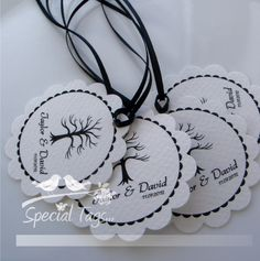 Personalized 2inch Circle Tags with Scalloped Edges by SpecialTags, $30.00