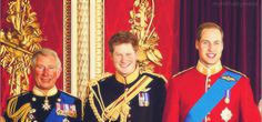 PRINCES CHARLES, HARRY & WILLIAM