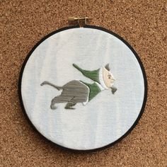 Medieval beastie embroidery by TheStitchEmporium on Etsy