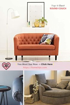 Tired of the usual L-Shaped Sectional sofas ? Then try the unique curved sofas for a change. Take a closer look in these 13 best round couches that inspire you to decorate your modern living room today. Decorating Your Home, Diy Home Decor, Decorating Ideas, Holiday Decorating, Decor Ideas, Round Couch, Niche Decor, Living Room Decor Inspiration, Design Inspiration