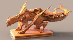 ArtStation - Speed Sculpt_ Dragon, keita okada