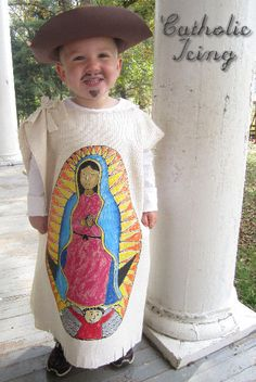How to Make a San Juan Diego Costume from Catholic Icing.  (I just need a OLOG costume and it would be perfect!)