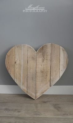 Wooden heart from reclaimed materials