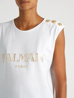 Hurry!! GET 10% On Balmain Logo-print tank top https://matchesfashion.mention-me.com/m/ol/kzu-mariam-albukhari
