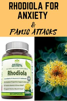 10 Natural Supplements for Anxiety and Panic Attacks : Rhodiola encourages calmness and relaxation as well as being a natural stress-reducing and anxiety remedy. Natural Health Remedies, Home Remedies, Natural Anxiety Remedies, Natural Supplements For Anxiety, Anxiety Panic Attacks, Angst, Natural Treatments, Natural Anxiety Treatment, Cellulite