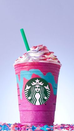 The Unicorn Frappucino from Starbucks is lit!