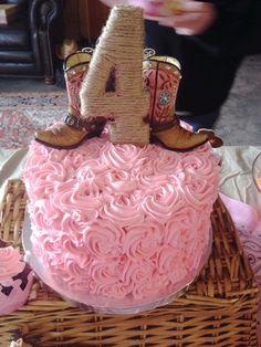 Pink/Cowgirl Birthday Cake