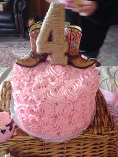 Pink/Cowgirl Birthday Cake