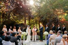 fall leaves wedding ceremony Calamigos Ranch Malibu Wedding Kevin Le Vu Photography 53