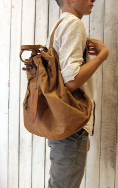 MEDITERRANEAN SAC 3 Handmade Italian Leather Backpack Leather di LaSellerieLimited su Etsy