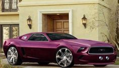 Love this purple mustang