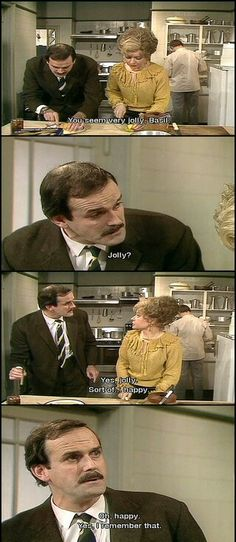 Where would we be without Fawlty Towers every week? Basil at his insulting best playing a hotel owner in Cornwall with his wife. very funny. British Sitcoms, British Comedy, Comedy Tv, Comedy Show, Bbc, Fawlty Towers, Only Fools And Horses, Classic Comedies, Monty Python