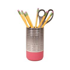 """Getting organized doesn't have to be a chore. This quirky eraser-shaped pencil cup ought to give you a giggle while it gets your writing implements in order. The """"eraser"""" is made of a non-scratch polym...  Find the Mess Eraser Pencil Cup, as seen in the Holiday Gift Guide: Gifts Under $25 Collection at http://dotandbo.com/collections/holiday-gift-guide-2015-gifts-under-25?utm_source=pinterest&utm_medium=organic&db_sku=SML0055"""
