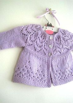 Lace baby jacket (knit with cr |