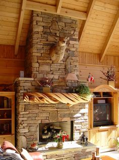 13 best cabin fireplace mantle images cabin fireplace fireplace rh pinterest com Log Cabin Fireplaces Log Cabin Fireplace Mantels