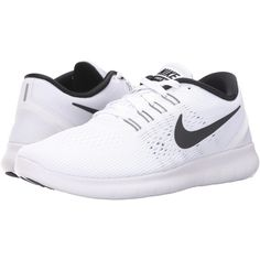 new arrival 477f0 cca8c Nike Free RN (White Black) Women s Running Shoes ( 80) ❤ liked
