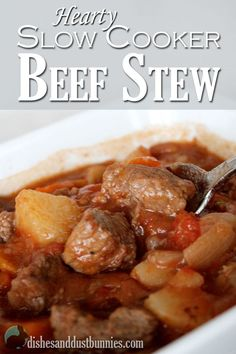 This hearty slow cooker beef stew is perfect to warm you in when the weather gets colder!