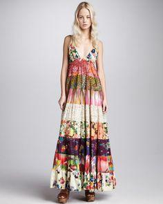 Boho Jumpsuit Tie Dye Hippie Bohemian Jumper Tube maxi dress ...