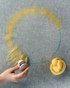 Learn How to Needle-Felt with Roving - How to Needle-Felt with Felt Cutouts, Roving, and Yarn - Step 4 - MarthaStewart.com