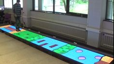 This week the University of Twente installed an LED video floor intended to be used for better rehabilitation for patients with walking difficulties, for example due to a brain injury or after an accident, RTV Oost reports.