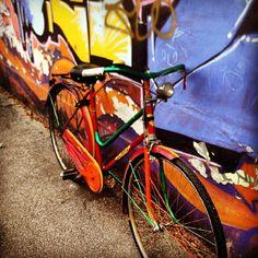 alice_kiki - #pimp my #bike #spry #colore #bici #restauro #nuova #cool #torino #thatsamore #metropoli #urbex #citybike #pedalare #instamood #instacity #instadaily #sunday #foto_italiane #cheaphappiness #domenica #homemade #workinprogress #webstagram