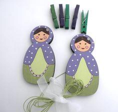Children's  Artwork display hanger- Matryoshka/ Babushka/ Russian doll- Purple and Green wall art for girls by Shellyka on Etsy https://www.etsy.com/listing/89296941/childrens-artwork-display-hanger