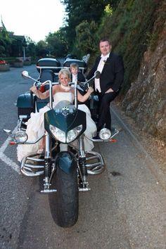 Weddings, bride rides a Boom, HELLO